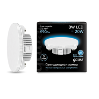 Лампа Gauss GX53 8W 690lm 4100K LED 108008208
