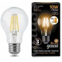Лампа Gauss LED Filament A60 E27 10W 2700К step dimmable 102802110-S