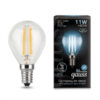 Лампа Gauss LED Filament Globe E14 11W 4100К 105801211