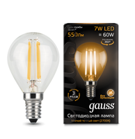 Лампа Gauss LED Filament Globe E14 7W 2700К 105801107​