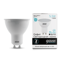 Лампа Gauss Elementary MR16 5.5W 450lm 4100К GU10 LED 13626