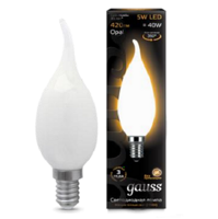 Лампа свеча Gauss LED Filament Candle Tailed OPAL E14 5W 2700К 104201105