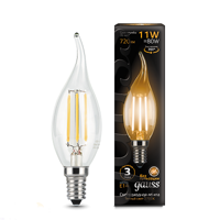 Лампа Gauss LED Filament Свеча на ветру E14 11W 2700K 104801111