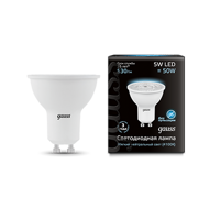 Лампа Gauss LED MR16 GU10 5W 530lm 4100K 101506205