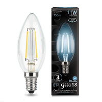 Лампа Gauss LED Filament Candle E14 11W 4100К 103801211
