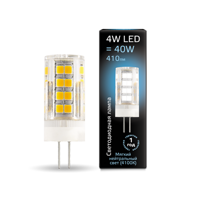 Лампа Gauss LED G4 AC185-265V 4W 4100K керамика 107307204