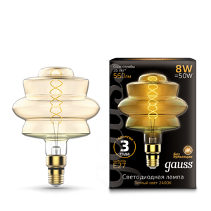 Лампа Gauss Led Vintage Filament Flexible BD180 8W 560lm E27 161802008