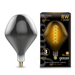Лампа Gauss Led Vintage Filament Flexible SD160 8W E27 163802008