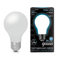 Лампа  Gauss LED Filament A60 OPAL E27 10W 4100К 102202210