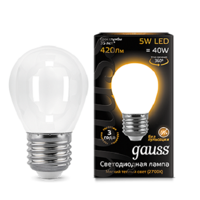 Лампа шар Gauss LED Filament Globe OPAL E27 5W 2700K 105202105