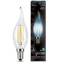 Лампа Gauss LED Filament Свеча на ветру E14 5W 4100К 104801205