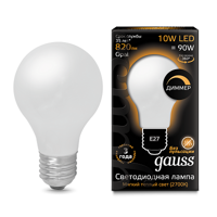 Лампа Gauss LED Filament A60 E27 10W 2700К 102202110-D