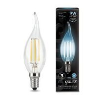 Лампа Gauss LED Filament Свеча на ветру E14 9W 4100К 104801209
