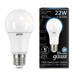 Лампа Gauss LED A70 E27 22W 4100K 102502222