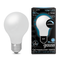 Лампа Gauss LED Filament A60 E27 10W 4100К 102202210-D