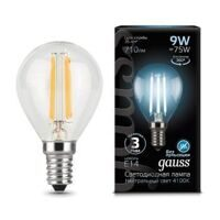 Лампа Gauss LED Filament Globe E14 9W 4100К 105801209