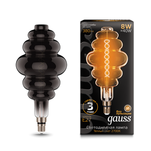 Лампа Gauss Led Vintage Filament Flexible BD200 8W E27 159802008