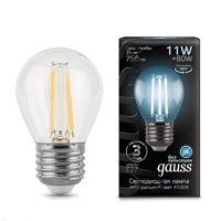 Лампа Gauss LED Filament Globe E27 11W 4100К 105802211