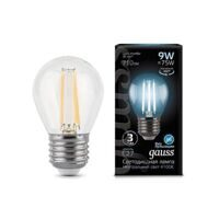 Лампа Gauss LED Filament Globe E27 9W 4100К 105802209