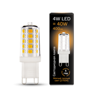 Лампа Gauss LED G9 AC185-265V 4W 2700K керамика 107309104