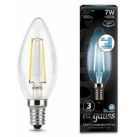 Лампа Gauss LED Filament Candle E14 7W 4100К step dimmable 103801207-S
