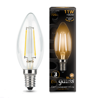 Лампа Gauss LED Filament Candle E14 11W 2700К 103801111